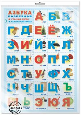 Плакат Азбука разрезная А2 (в индивидуальной упаковке с европодвесом)