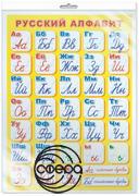 Плакат Русский алфавит (прописной) А2 (индивидуальная упаковка)