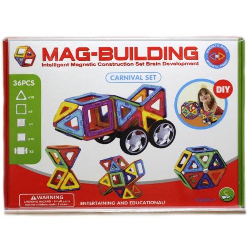 Конструктор магнитный Mag-Building 36 дет.