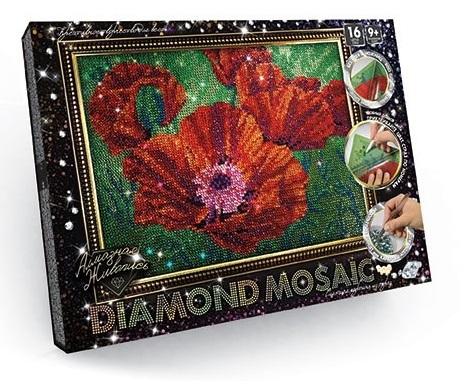 Алмазная живопись мал Маки 16 цветов