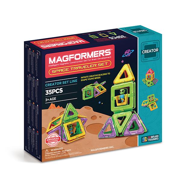 Конструктор магнитный Магформерс Space Traveler set 35 дет