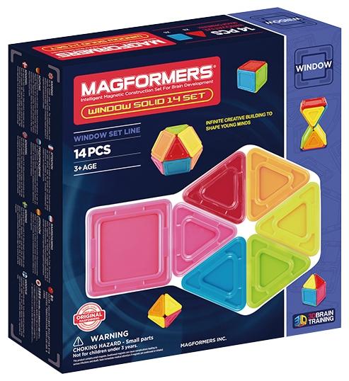 Конструктор магнитный Магформерс Window Solid 14дет