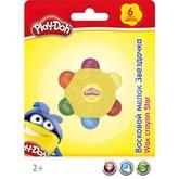Мелки восковые 6цв Play Doh в держателе Солнышко