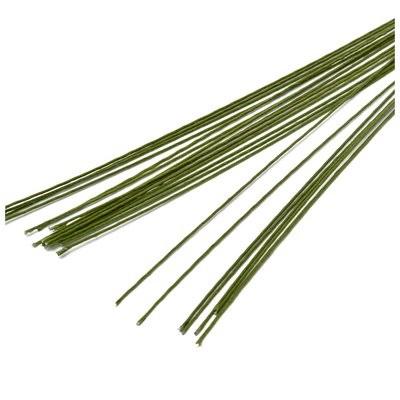 Проволока флористическая Светло-зеленая 36см 10шт