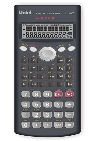 Калькулятор 10+2 разр. Uniel 240 функций инженер черный