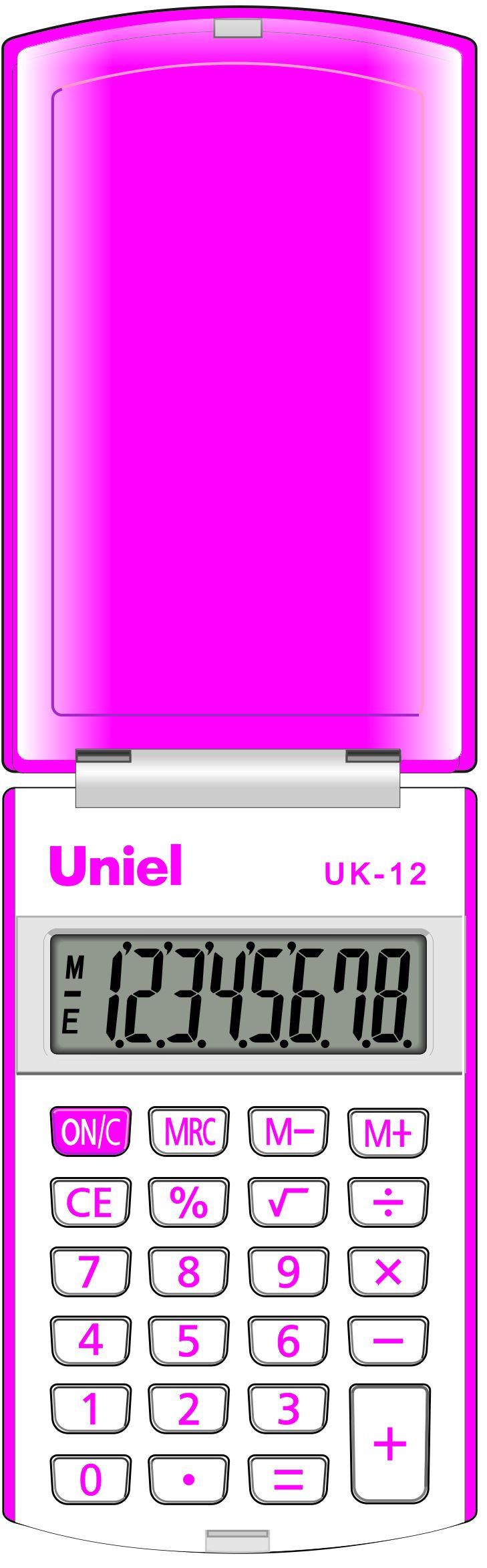 Калькулятор 8 разр. Uniel карманный пурпурный