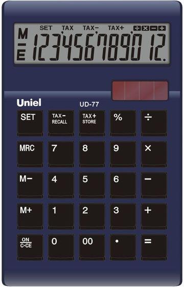 Калькулятор 12 разр. Uniel настольный фиолетовый/синий