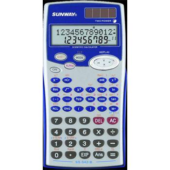Калькулятор 10+2 разр. Uniel 240 функций научный серебристо-черный