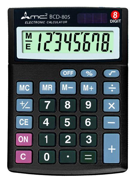 Калькулятор 8 разр. Uniel настольный черный