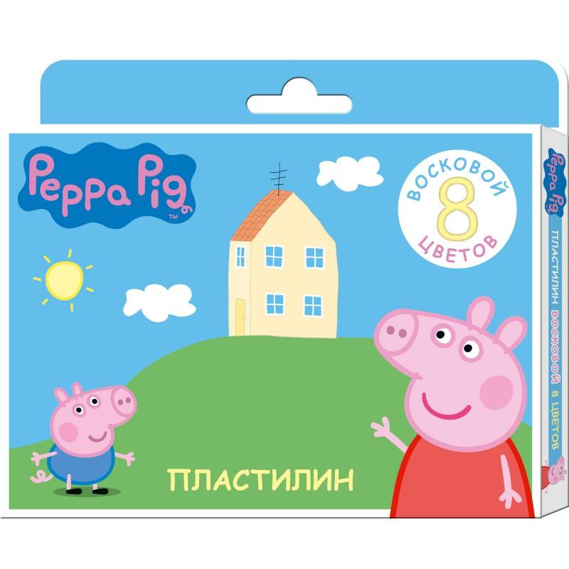 Пластилин 8 цв Свинка Пеппа восковой