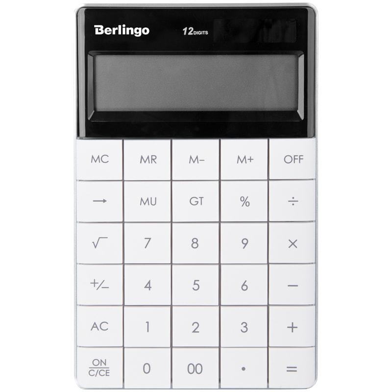 Калькулятор 12 разр. Berlingo Power TX настоль двойн питан белый