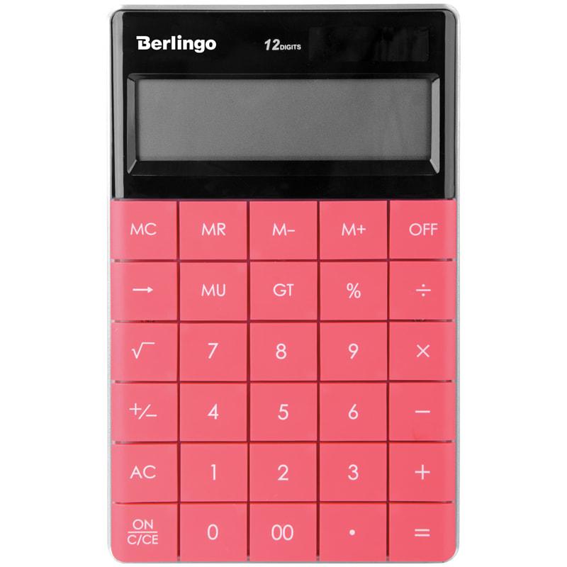 Калькулятор 12 разр. Berlingo Power TX настоль двойн питан темно-розов