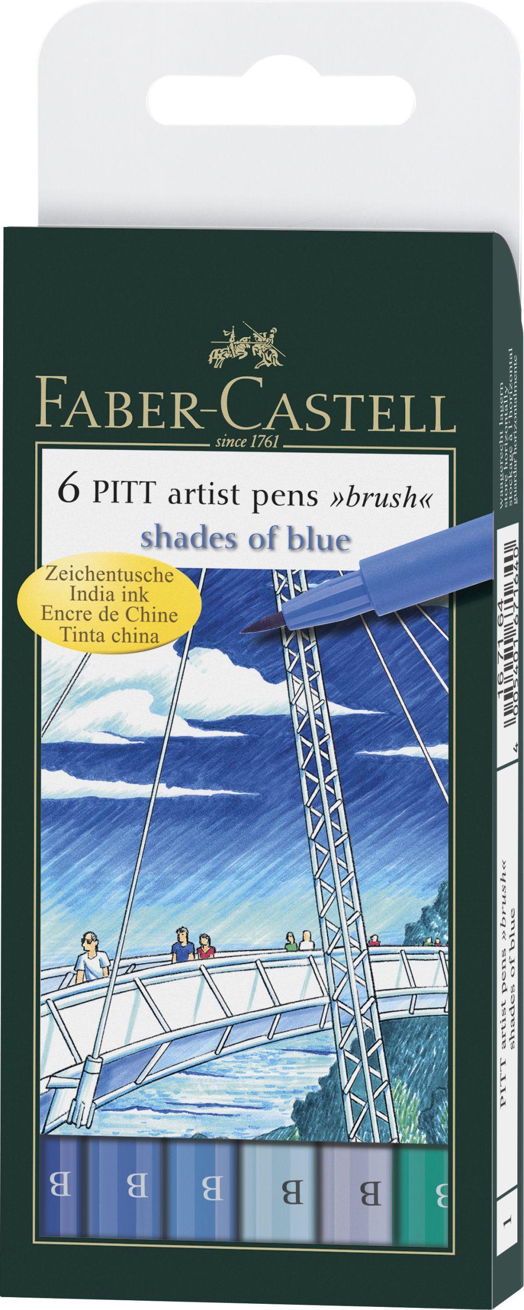 Ручки капиллярные 6 цв FC PITT Artist Pen оттенки синего