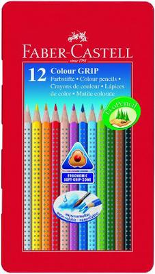 Карандаши цветные 12 цв FC GRIP 2001 акварель метал. коробка
