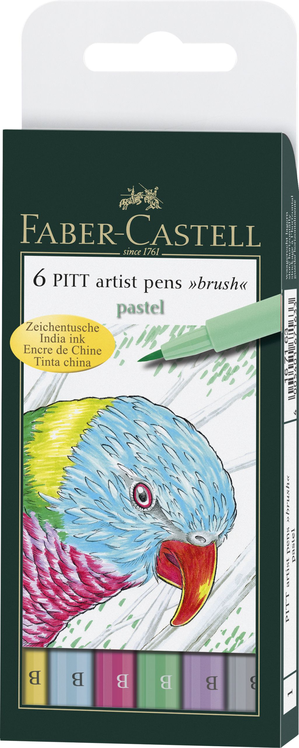 Ручки капиллярные 6 цв FC PITT Artist Pen пастельные оттенки