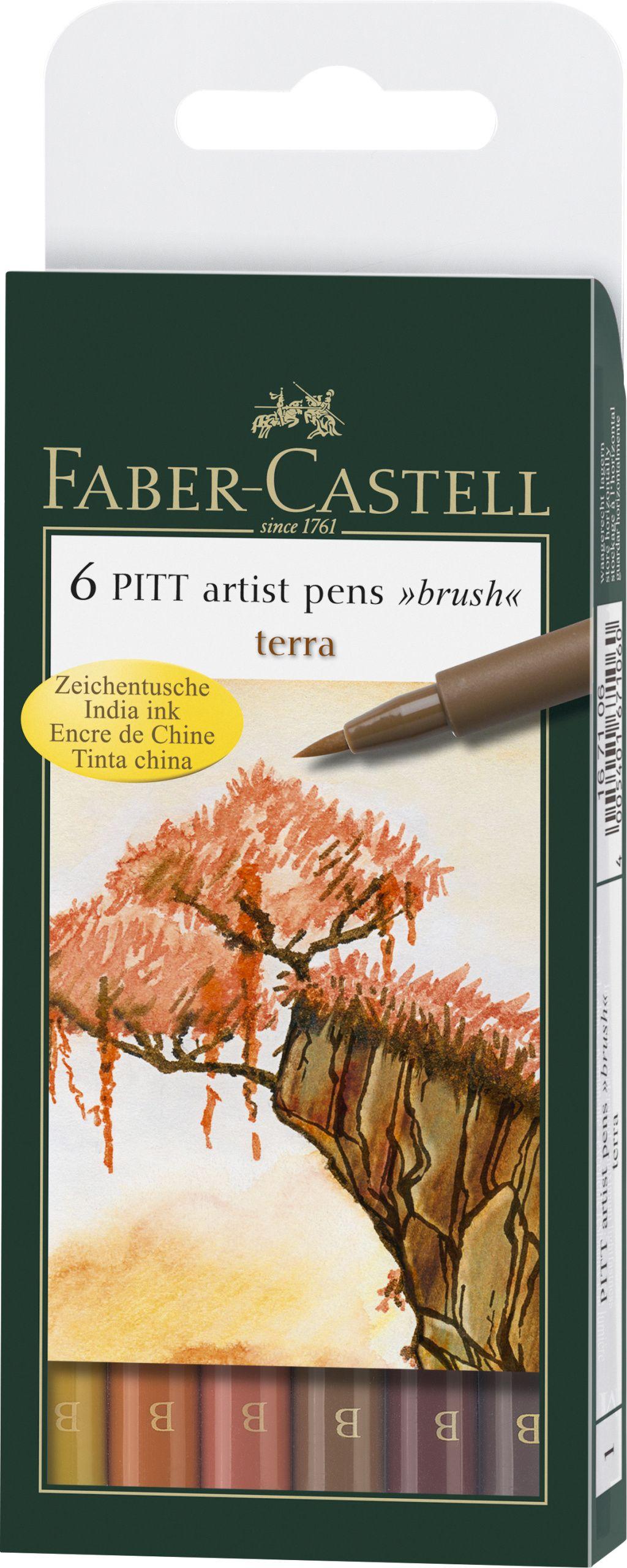 Ручки капиллярные 6 цв FC PITT Artist Pen натуральные оттенки