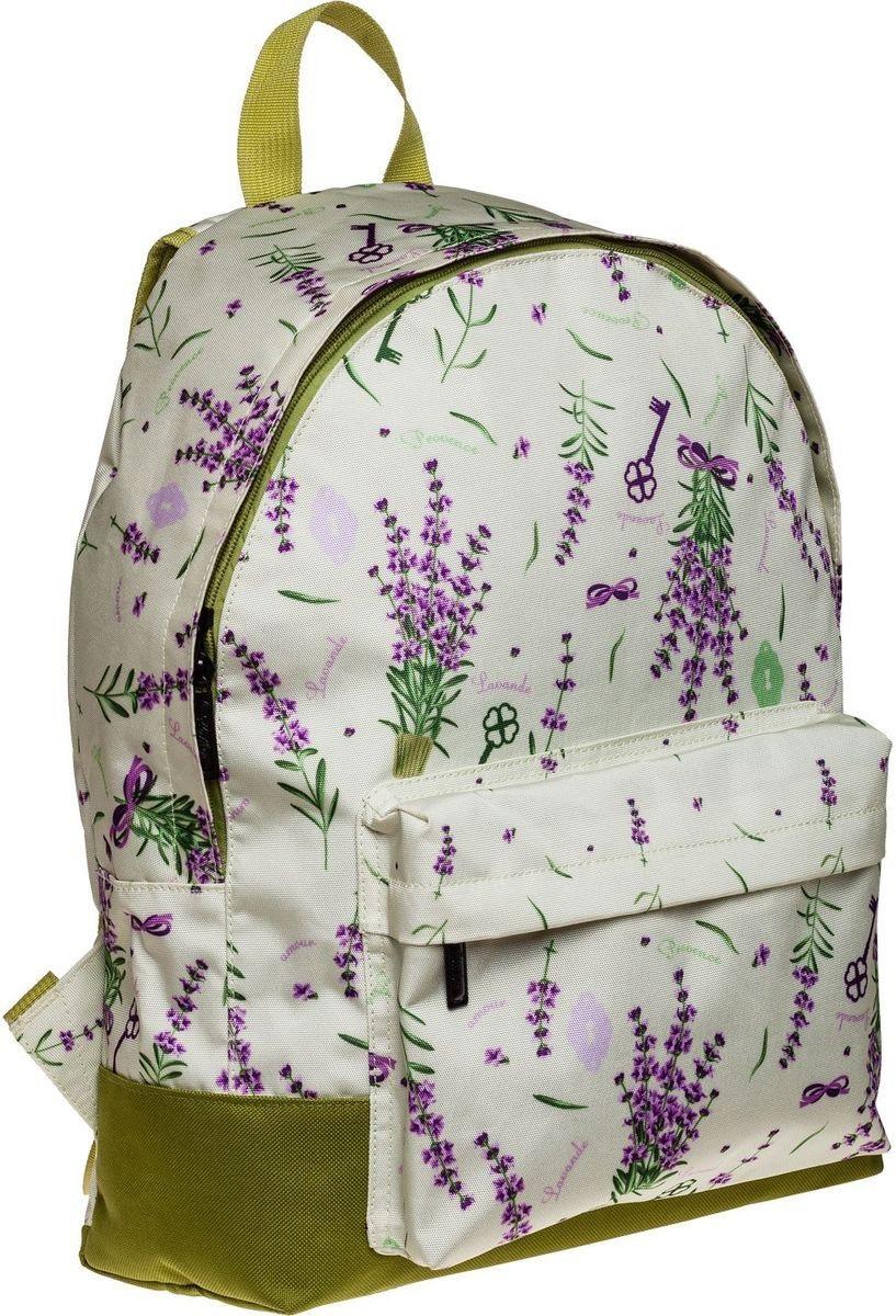 Рюкзак Hatber Provence фиолет цветы на светлом фоне