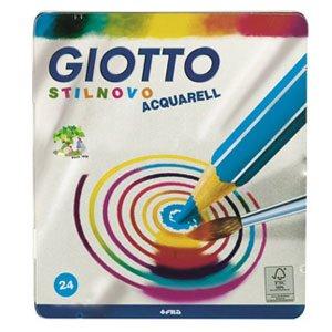 Карандаши цветные 24 цв Giotto Stilnovo Acquarell акварельные мет коро