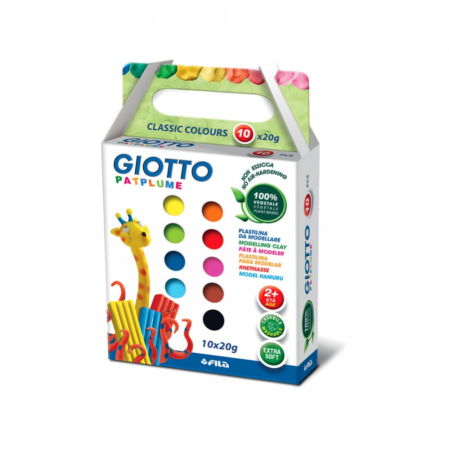 Пластилин 10 цв Giotto Patplume 20гр