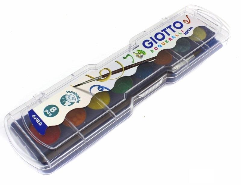 Краски 8цв Giotto металлик с/к пл/уп