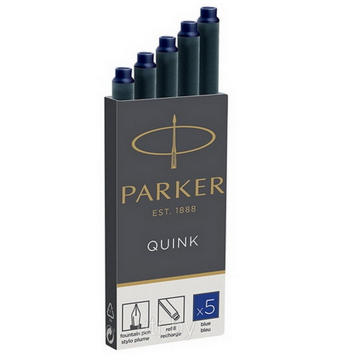 Баллончик для перьевой ручки Parker синий ПОШТУЧНО