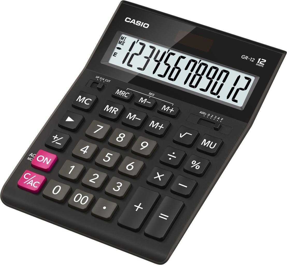 Калькулятор 12 разр. Casio настольный черный (аналог 444)