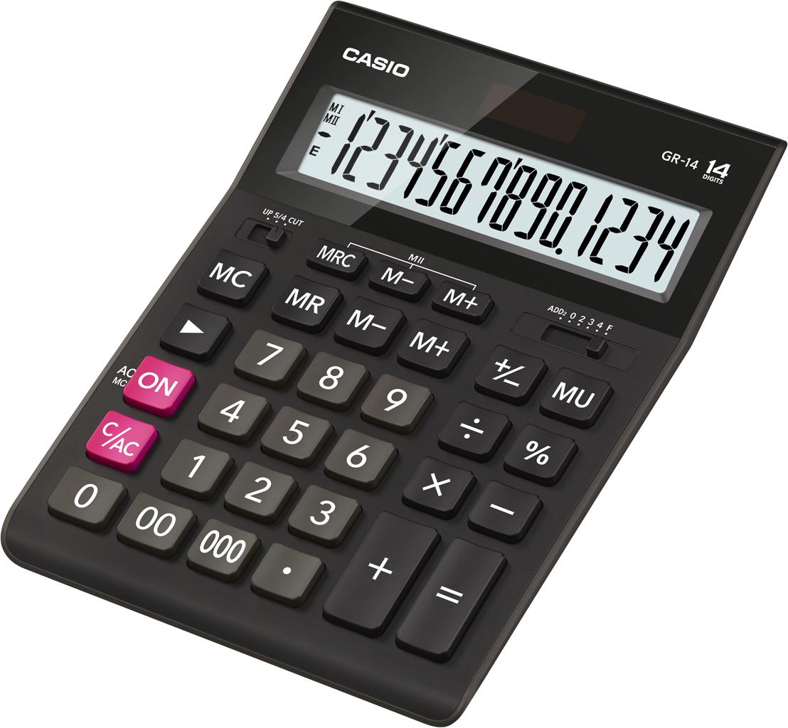 Калькулятор 14 разр. Casio настольный черный