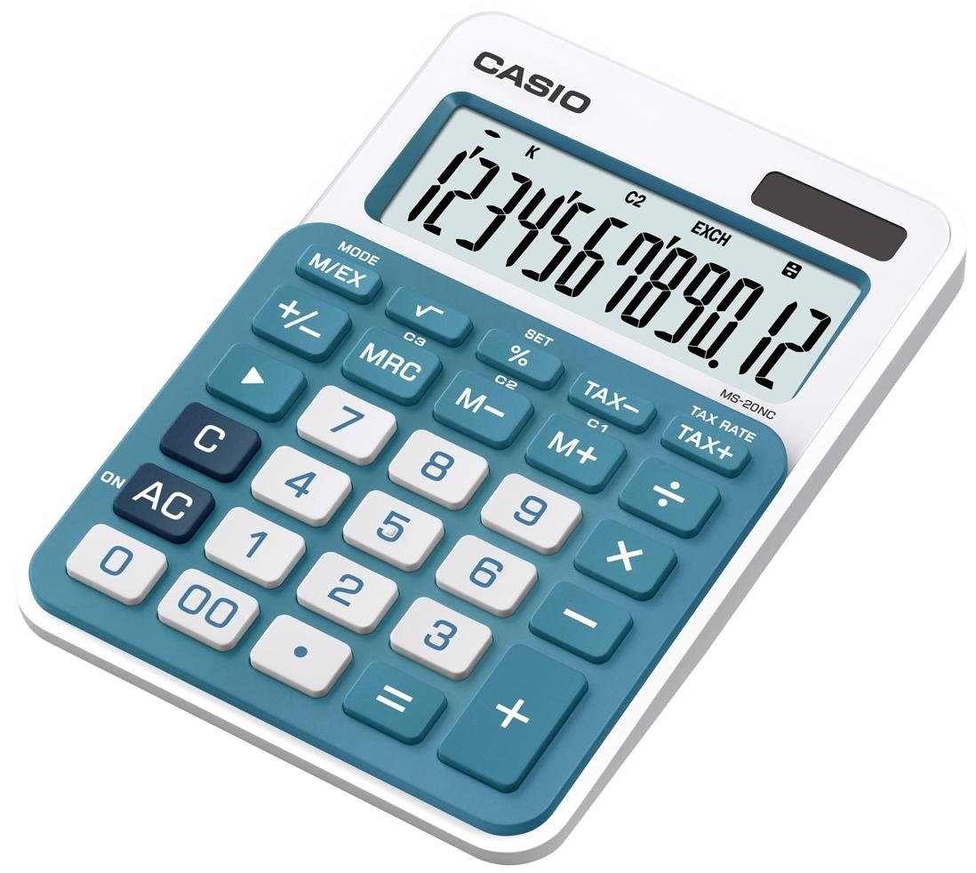 Калькулятор 12 разр. Casio настольный голубой