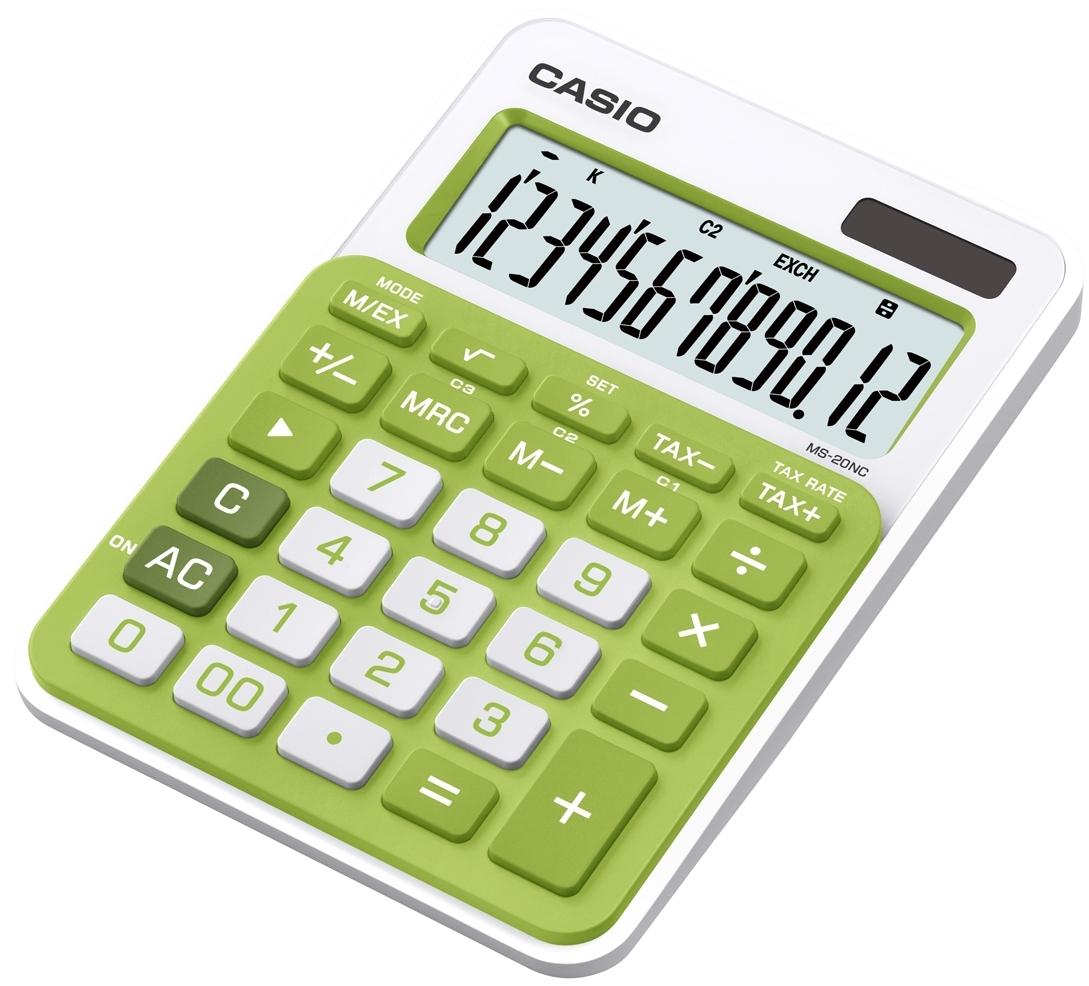 Калькулятор 12 разр. Casio настольный зеленый