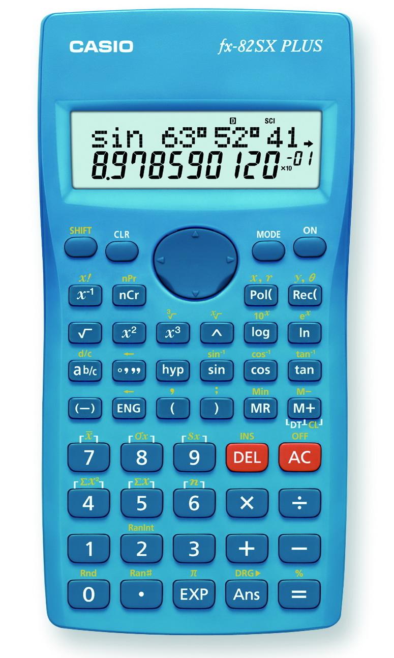Калькулятор 10+2 разр. Casio научный синий