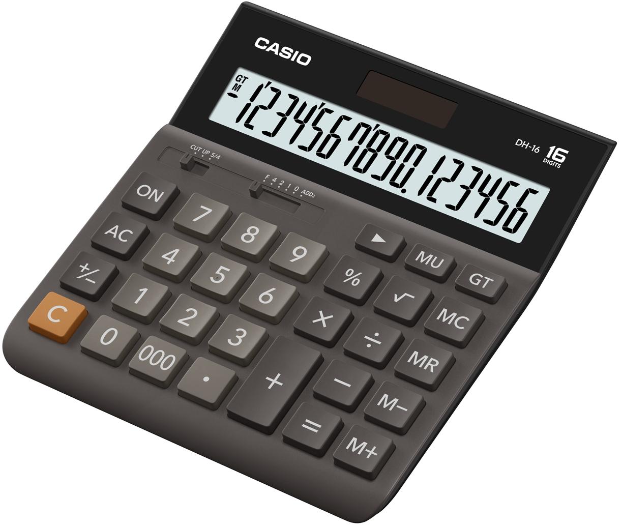 Калькулятор 16 разр. Casio настольный коричневый/черный