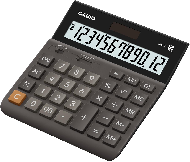 Калькулятор 12 разр. Casio настольный коричневый/черный/серый