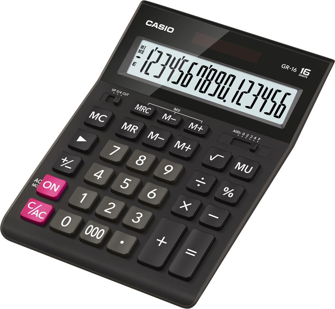 Калькулятор 16 разр. Casio настольный черный