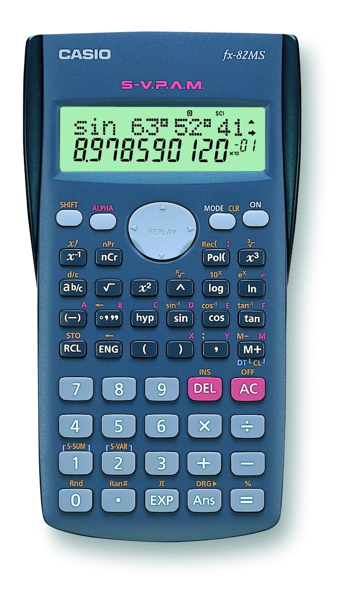 Калькулятор 10 разр. Casio научный серый