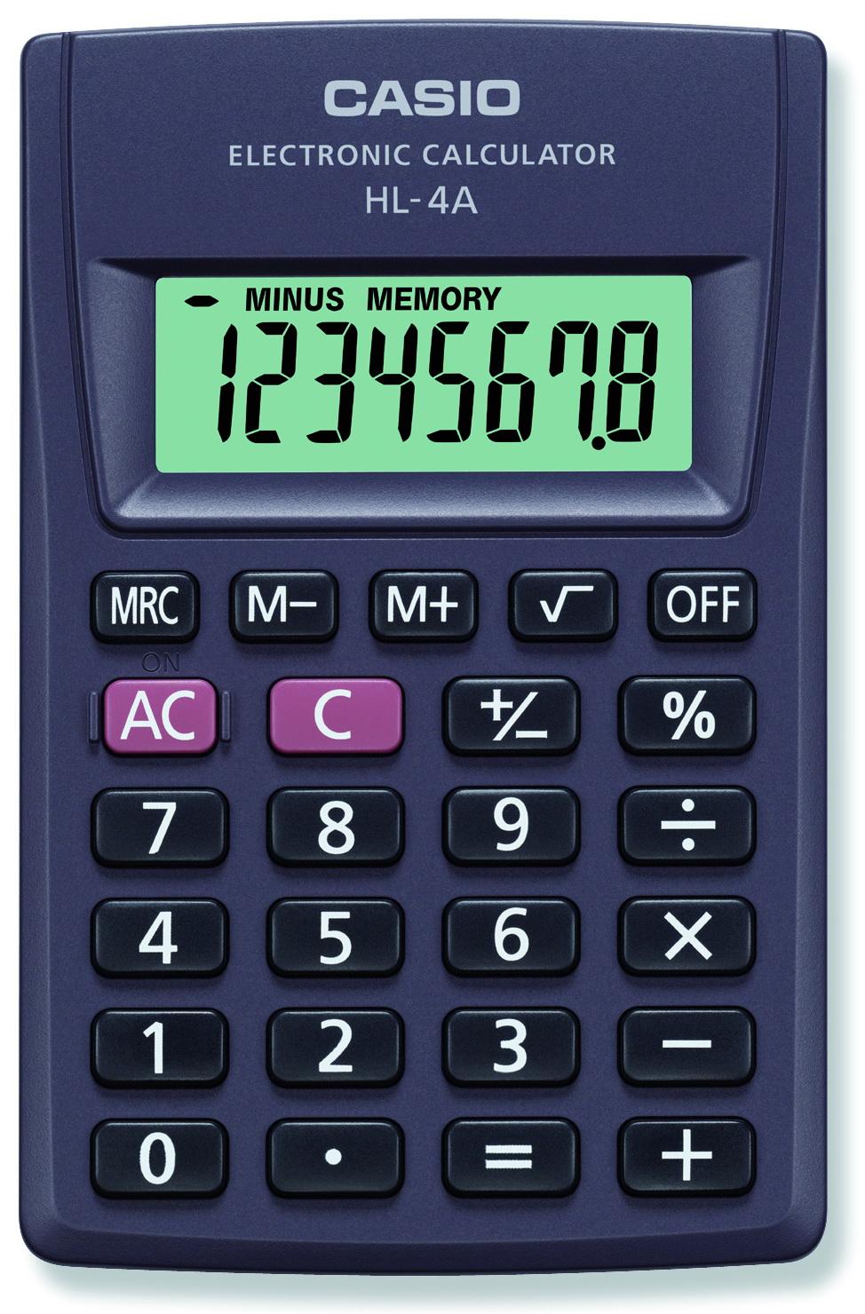 Калькулятор 8 разр. Casio карманный черный