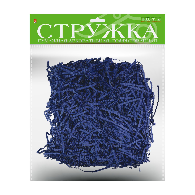 Творч Стружка бум гофр Ярко-синий 3мм 50гр