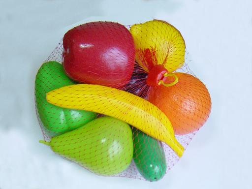 набор Фрукты и овощи пластмас. (16 пред.)