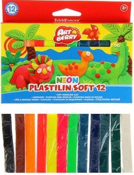 Пластилин 12 цв EK Artberry Neon 180гр