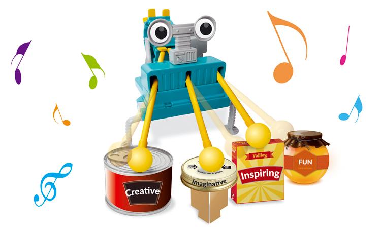 АКЦИЯ-20 Игр Набор для исследования Робот барабанщик