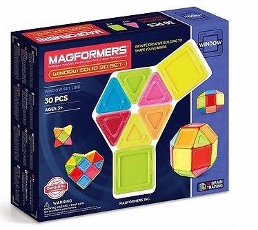 Конструктор магнитный Магформерс 30 дет. Window solid