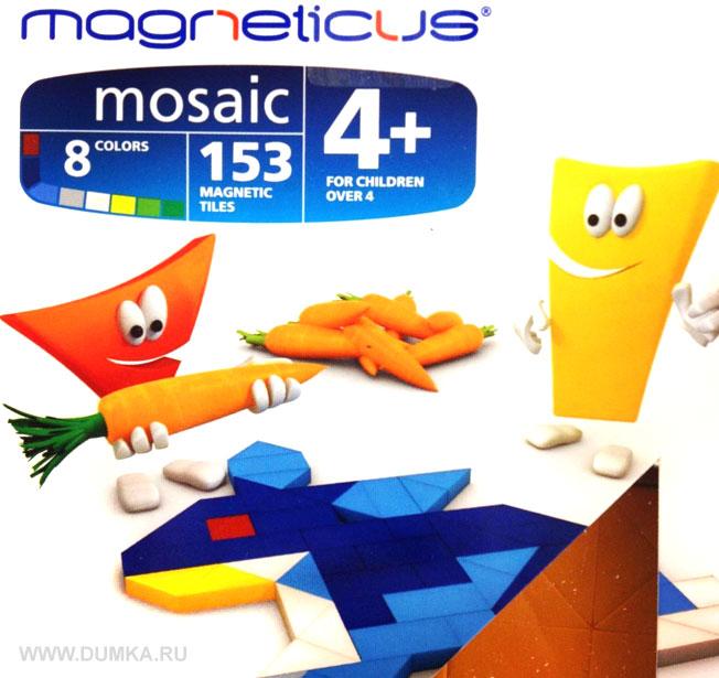 Игра Мозаика магнитная Magneticus 153 дет 8 цветов Кролик