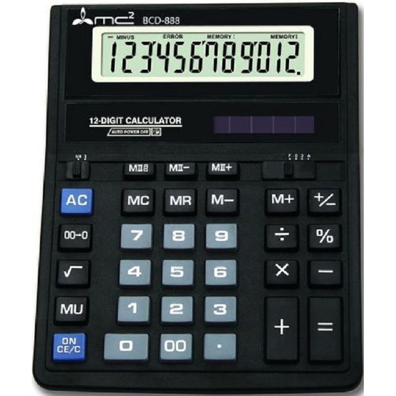 Калькулятор 12 разр. Uniel настольный черный 203*159*23мм