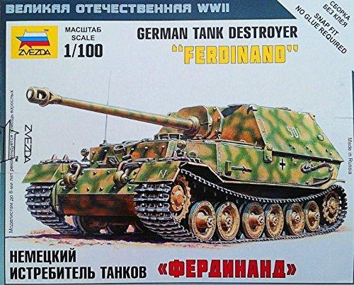 Сборная модель Немецкая САУ Фердинанд 1/100