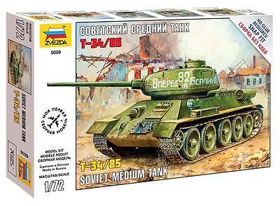 Сборная модель Советский танк Т-34/85 1/72