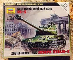 Сборная модель Советский тяжелый танк ИС-2 1/100