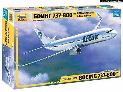 """Сборная модель Пассажирский авиалайнер """"Боинг 737-800""""  1/144"""