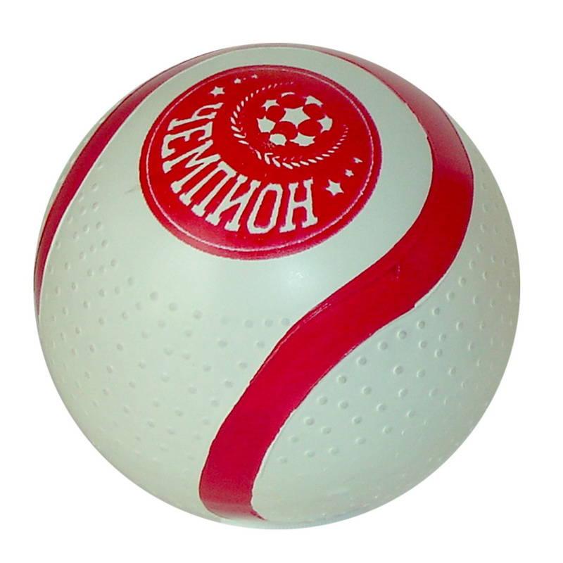 Мяч 100мм Чемпион резиновый