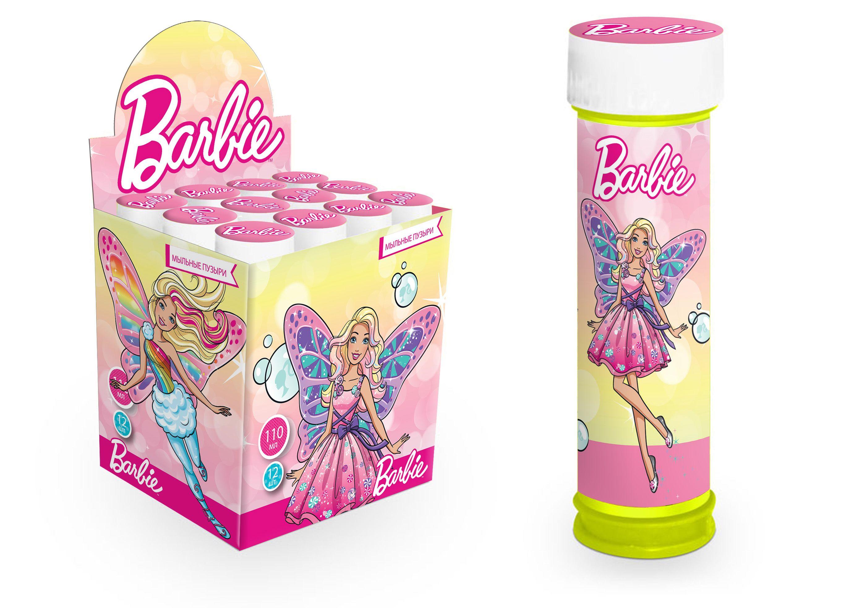 Мыльные пузыри 110мл Barbie в бутылочке
