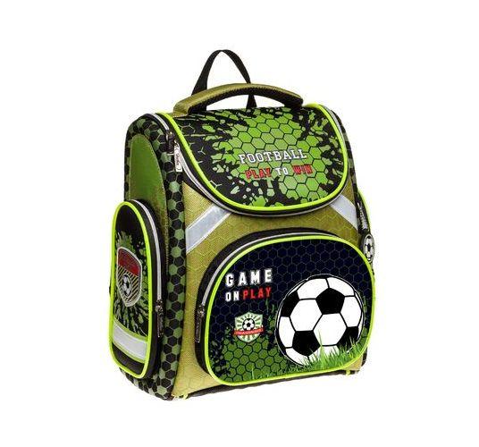 Ранец Hatber Football черно-зеленый трансформер
