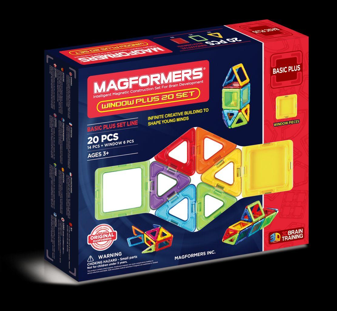 Конструктор магнитный Магформерс Window Plus Set 20дет